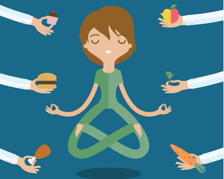 Dieta jogiczna - wpływ stanu świadomości podczas jedzenia